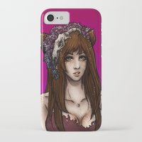 kitsune iPhone & iPod Cases featuring Kitsune by Mika Ishii