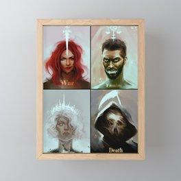 Four Horsemen of the Apocalypse Framed Mini Art Print