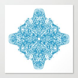 Blue Snowflake  Canvas Print
