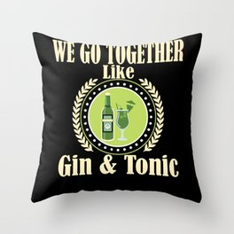 Gin Alcohol Party Alcohol Throw Pillow