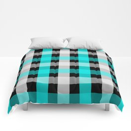 blue black checks Comforters