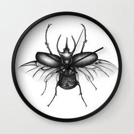 Beetle Wings Wall Clock