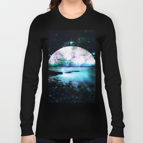 Mystic Lake Teal Violet Long Sleeve T-shirt