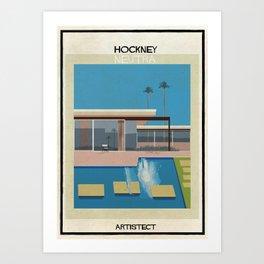 Hockney+neutra Art Print