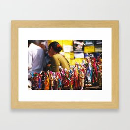 Anjuna flea-market, Goa, India Framed Art Print