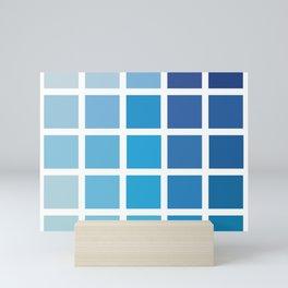 Blue Colour Palette Mini Art Print