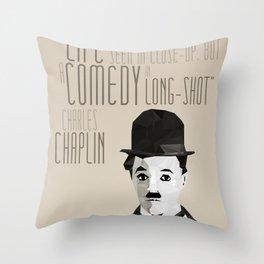 Chaplin Scomposition Throw Pillow