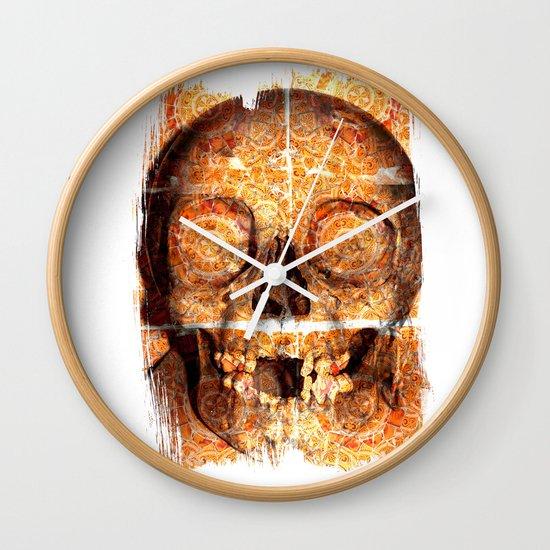 mosaica skully Wall Clock