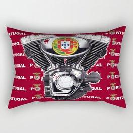 Portuguese biker soccer fan. Rectangular Pillow