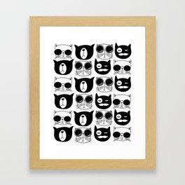 Hipster Cats Framed Art Print