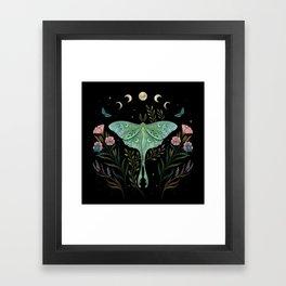 Luna and Forester Framed Art Print
