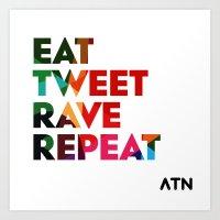 Eat Tweet Art Print