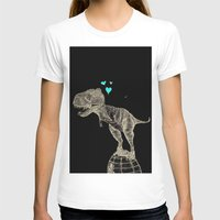 sneakers T-shirts featuring T-rex in sneakers  by PlumQuake