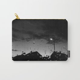 Morning After Rain (Black and White) Carry-All Pouch