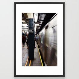 Wallstreet Subway Framed Art Print