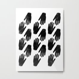 Hands Reaching Out Metal Print