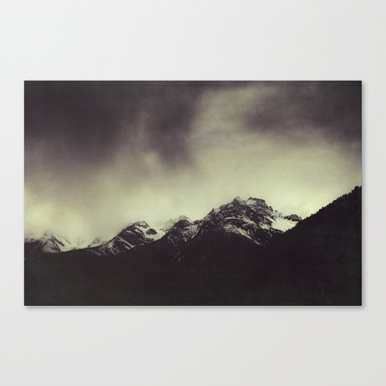 Shadow Mountain - Italian Alps Canvas Print
