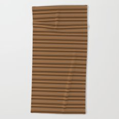 Bronze Tone Stripe Beach Towel