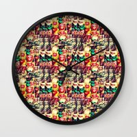 mouth Wall Clocks featuring mouth to mouth by bisualhart