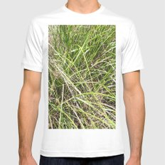 GRASS White MEDIUM Mens Fitted Tee