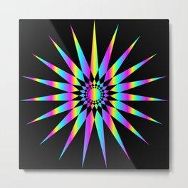 19-9-star-ycm-rainbow-gradient Metal Print