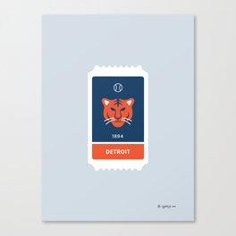 Detroit Baseball Ticket (30 of 30) Canvas Print