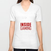 inside gaming V-neck T-shirts featuring Inside Gaming Moments by Jin Smoth