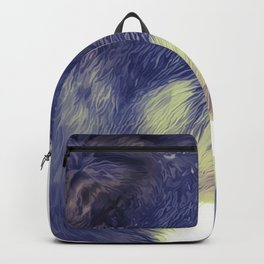 Oil Painting wolf Backpack