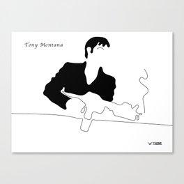 Tony Montana, by Will Zurmann Canvas Print