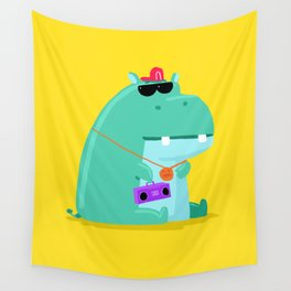 Hip Hop Hippo Wall Tapestry
