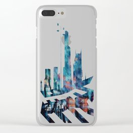 Viaduct By Night Clear iPhone Case