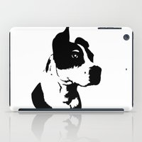 pitbull iPad Cases featuring Pitbull Love! by Kristen Lord
