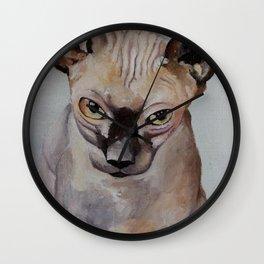 Artwork, animal, oilpainting. Sphynx. Cat Wall Clock