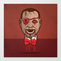 butcher billy Canvas Prints featuring Billy by Eric Koschnick