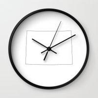 colorado Wall Clocks featuring Colorado by mrTidwell