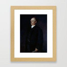 Otto von Bismarck Portrait - Franz von Lenbach Framed Art Print