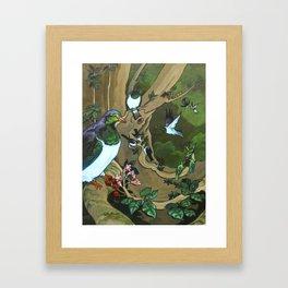 Pigeons, Parakeets and Fantails Framed Art Print
