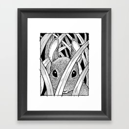 Bunny in the Grass Framed Art Print
