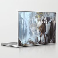 shingeki no kyojin Laptop & iPad Skins featuring Another World by putemphasis