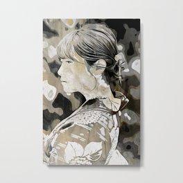 Kimono lady Metal Print