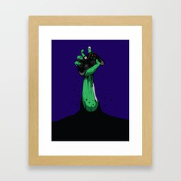 Zombie Gamer Framed Art Print