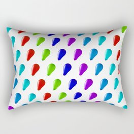Multi Coloured Balloons. Rectangular Pillow