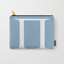 Greek letter Pi sign on placid blue background Carry-All Pouch