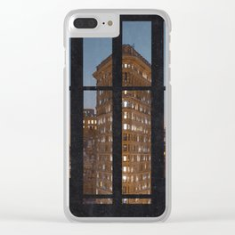 New York City Window View Clear iPhone Case