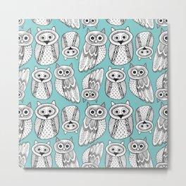 Hand dravn Cute Owl Metal Print