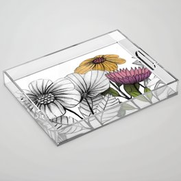 Lush garden Acrylic Tray
