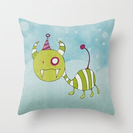 Party-Animal in Bubbles Throw Pillow