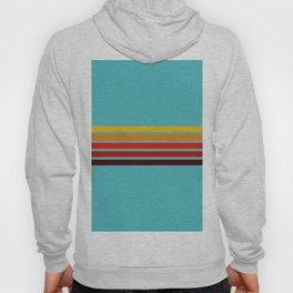 Abstract Minimal Retro Stripes 70s Style - Ietada Hoody