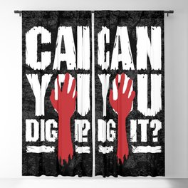 Can You Dig It? Funny Zombie Halloween Blackout Curtain