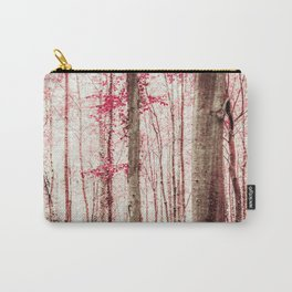 Pink and Brown Fantasy Forest Carry-All Pouch